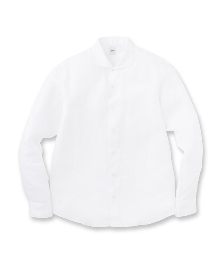 TAKEO KIKUCHI(タケオキクチ)リネンポプリン 長袖 シャツ