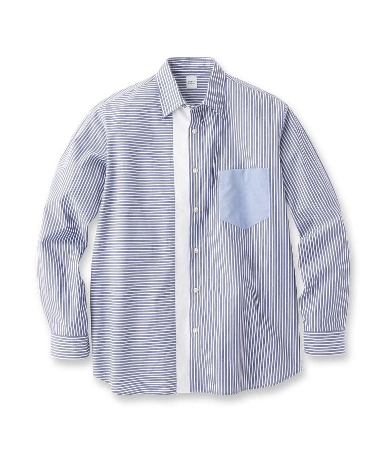 TAKEO KIKUCHI(タケオキクチ)【Sサイズ~】ストライプブロッキングシャツ