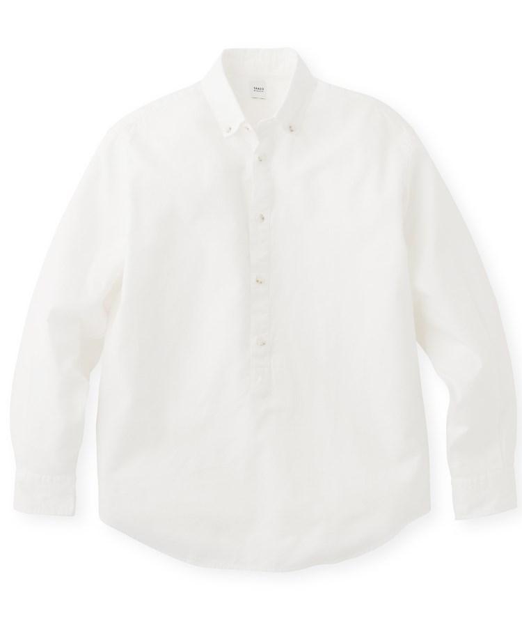 TAKEO KIKUCHI(タケオキクチ)ドビーワッフルプルオーバーシャツ
