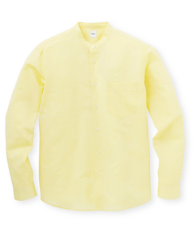 TAKEO KIKUCHI(タケオキクチ)Herdmans Linen バンドカラーシャツ