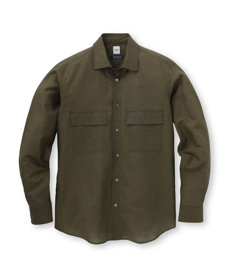 TAKEO KIKUCHI(タケオキクチ)【Sサイズ~】Herdmans Linen ダブルポケットシャツ