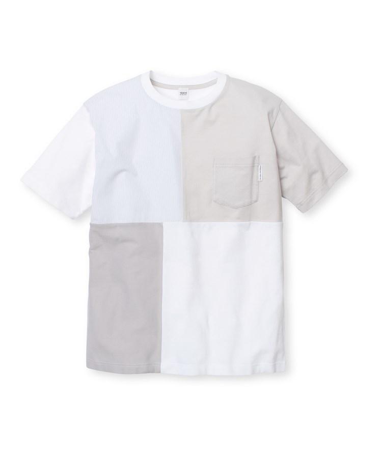 TAKEO KIKUCHI(タケオキクチ)ブロッキングポケットTシャツ