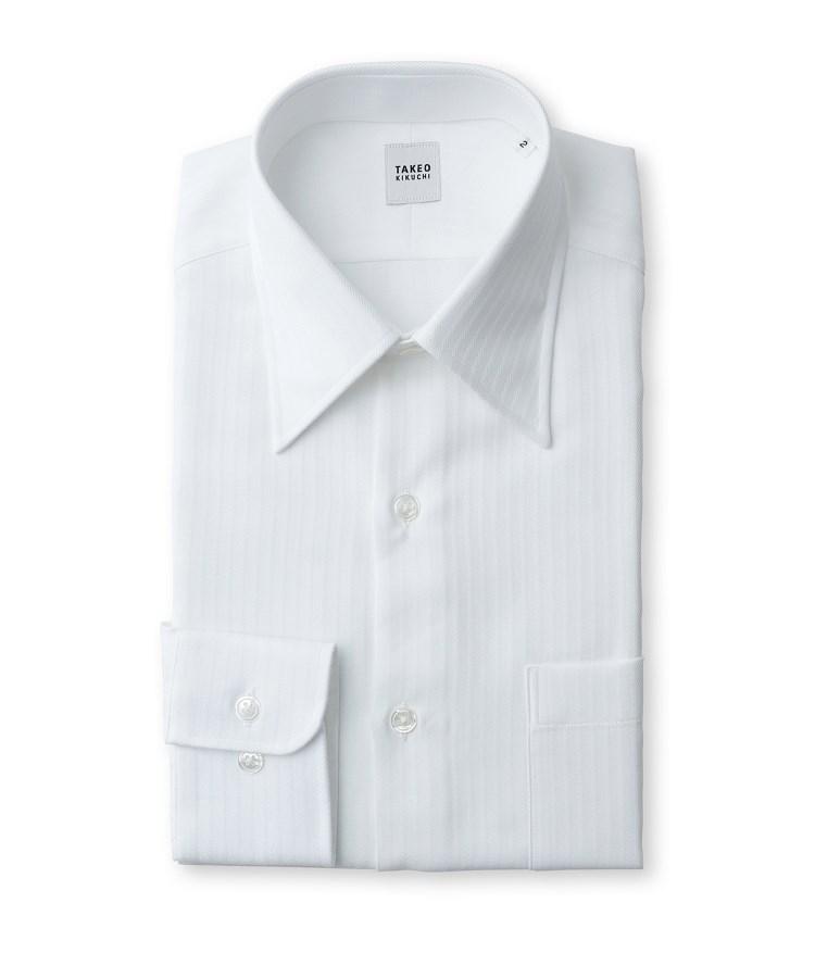 TAKEO KIKUCHI(タケオキクチ)ドビーストライプ ビジネス シャツ