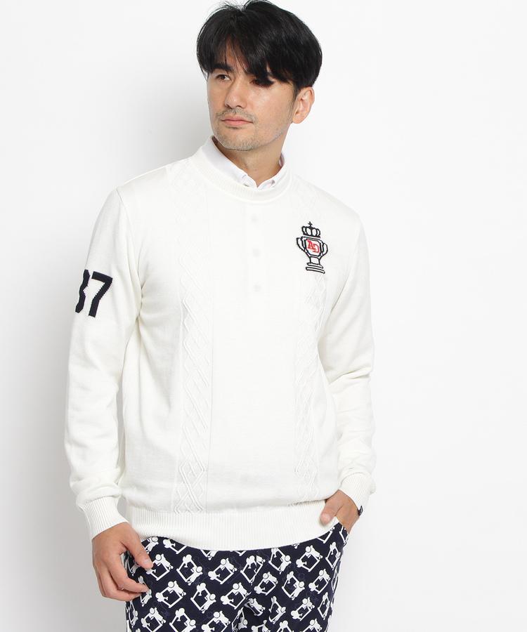 adabat(Men)(アダバット(メンズ))ゴルフモチーフ丸首セーター