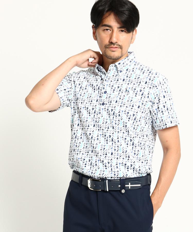 adabat(Men)(アダバット(メンズ))【吸水速乾 UVカット】 ジャガード 半袖ポロシャツ
