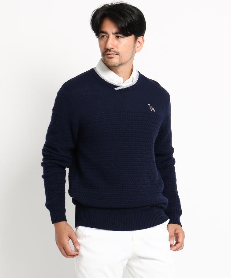 adabat(Men)(アダバット(メンズ))バスケット柄 セーター メンズ
