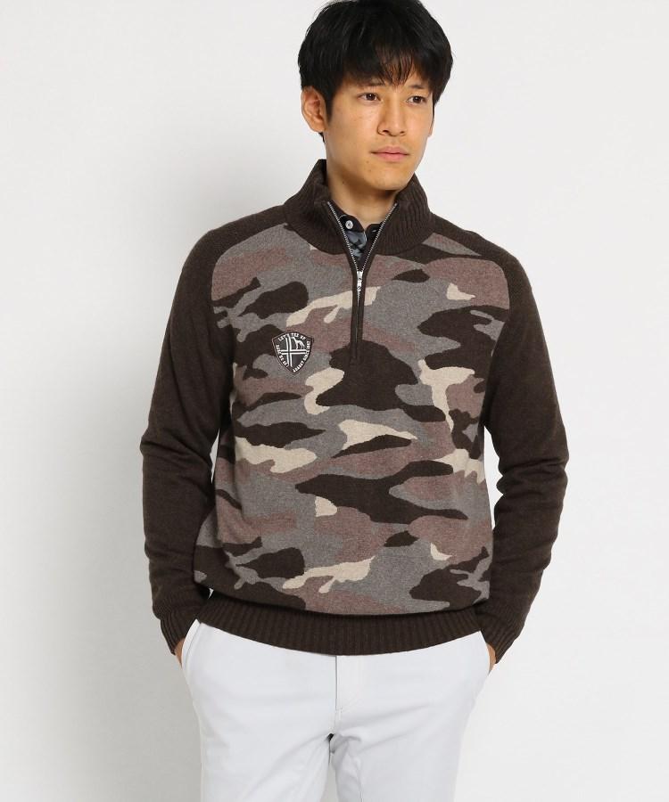 adabat(Men)(アダバット(メンズ))【蓄熱】 カモフラージュ柄 セーター メンズ