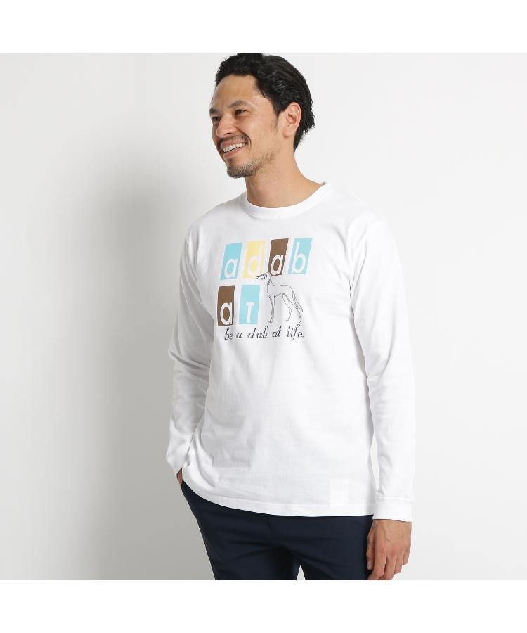 adabat(Men)(アダバット(メンズ))アダバットロゴ長袖Tシャツ