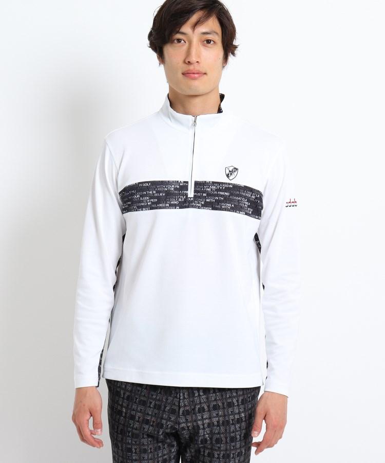adabat(Men)(アダバット(メンズ))【吸水速乾/UVカット】メッセージロゴ長袖プルオーバーシャツ
