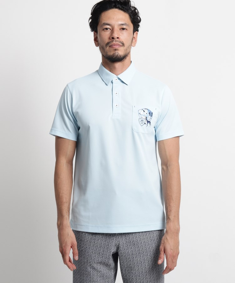 adabat(Men)(アダバット(メンズ))【吸水速乾/UVカット/遮熱】胸ポケット付き半袖ポロシャツ