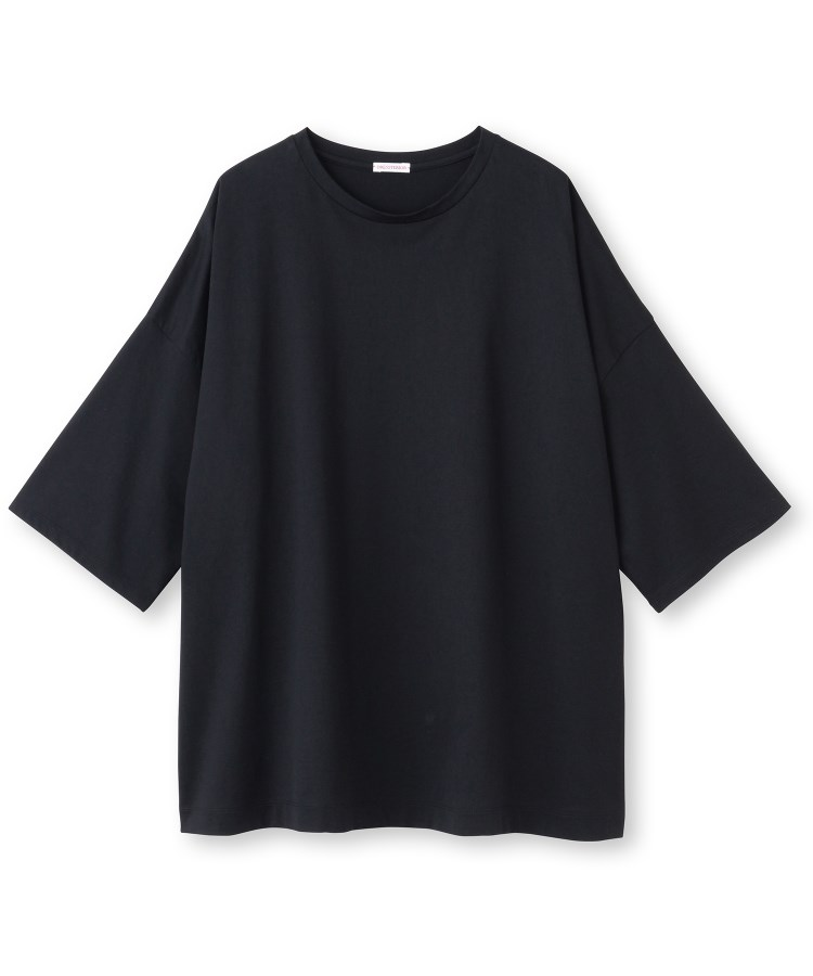 DRESSTERIOR(Ladies)(ドレステリア(レディース))天竺半端袖クルーネックTシャツ