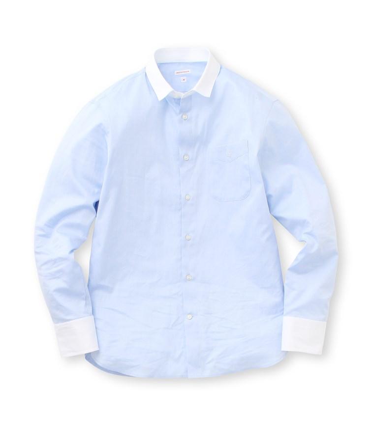 DRESSTERIOR(Men)(ドレステリア(メンズ))イニシャル刺しゅうオックスシャツ
