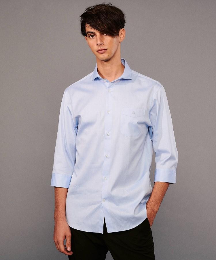 DRESSTERIOR(Men)(ドレステリア(メンズ))【洗える】ピンポイントオックス七分袖シャツ