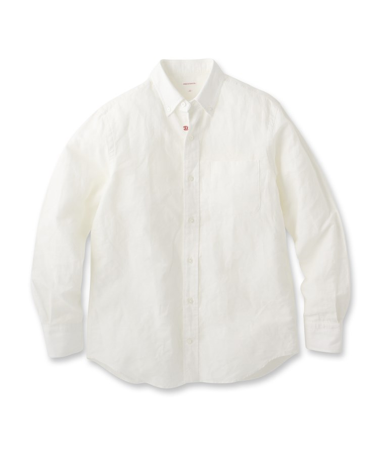 DRESSTERIOR(Men)(ドレステリア(メンズ))【洗える】綿/麻交織シーチングシャツ
