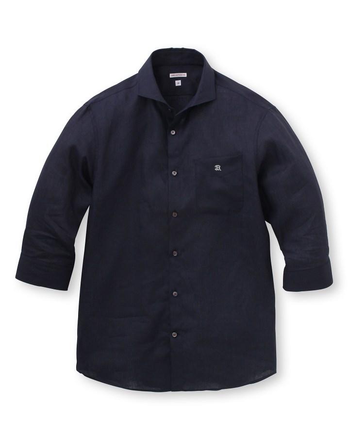 DRESSTERIOR(Men)(ドレステリア(メンズ))【洗える】リネン七分袖シャツ