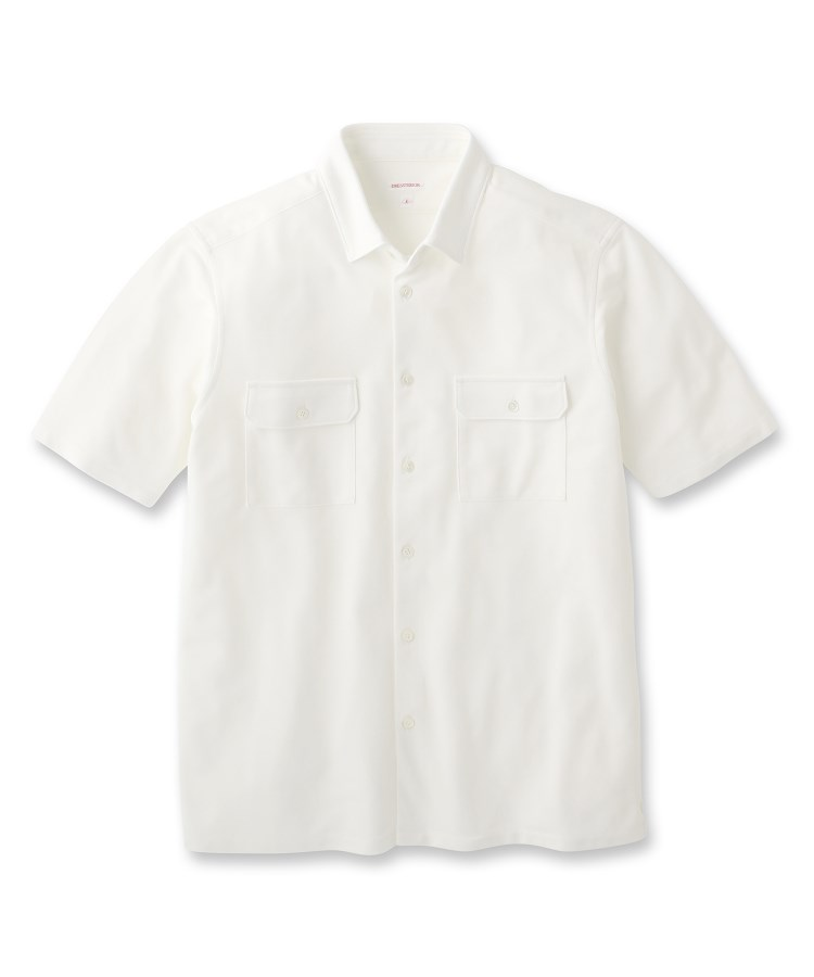 DRESSTERIOR(Men)(ドレステリア(メンズ))《吸水速乾》《洗える》カノコ羽織りシャツ