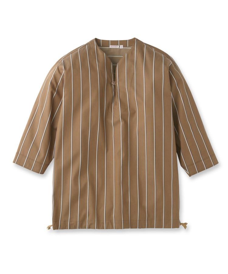 DRESSTERIOR(Men)(ドレステリア(メンズ))《洗える》ノーカラーリラックスシャツ