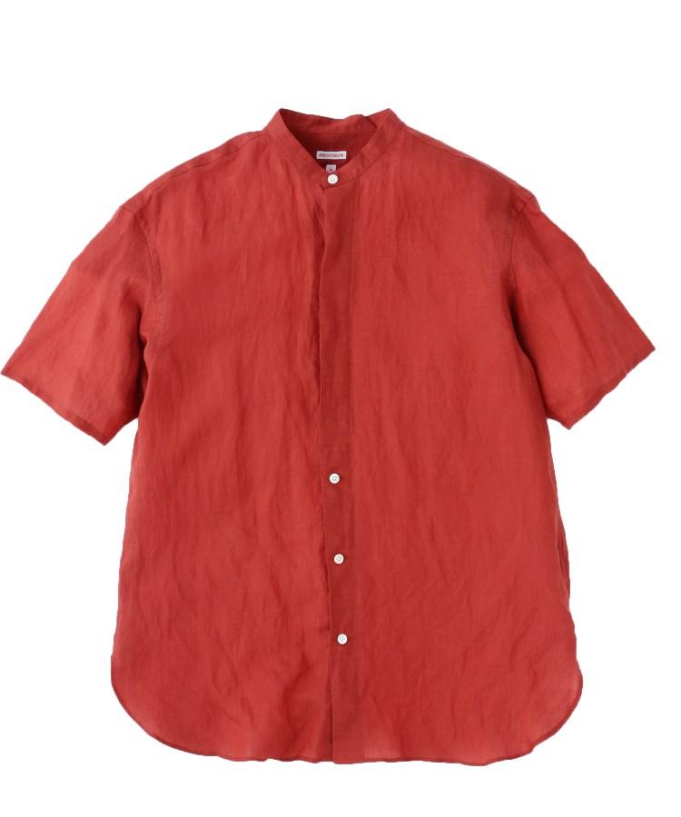 DRESSTERIOR(Men)(ドレステリア(メンズ))【洗える】スタンドカラーショートスリーブシャツ
