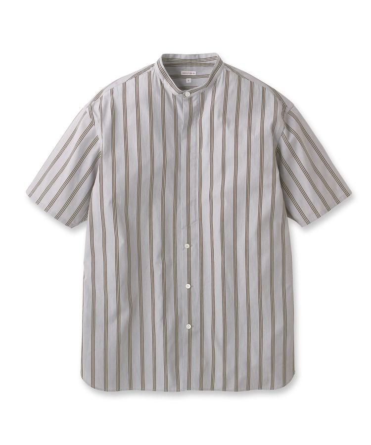 DRESSTERIOR(Men)(ドレステリア(メンズ))【洗える】スタンドカラーストライプシャツ