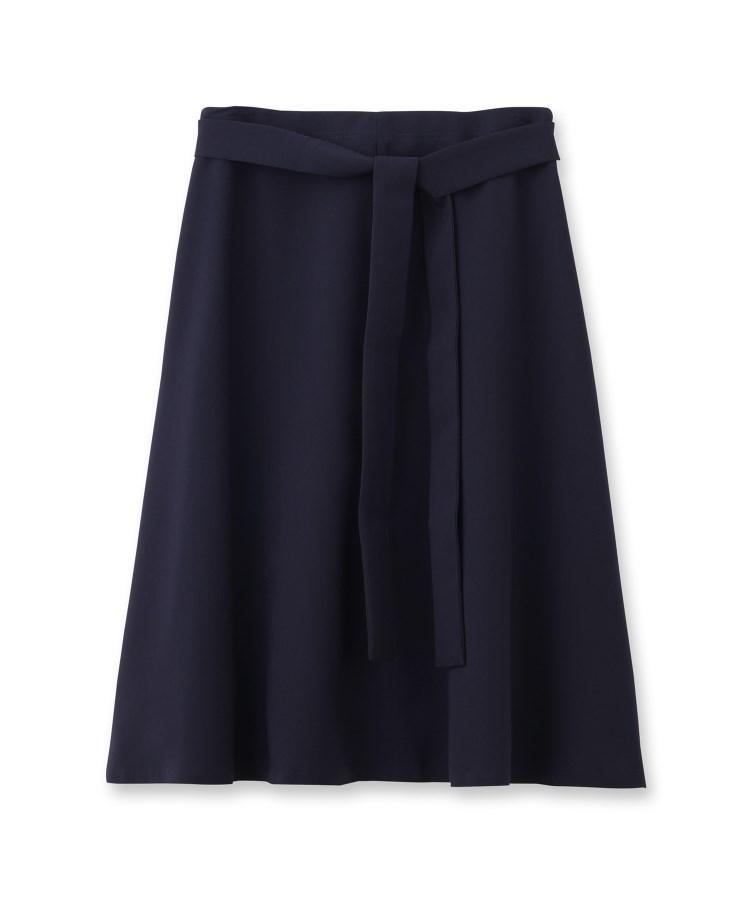 Reflect(リフレクト)◆【洗える】リボン付フレアースカート