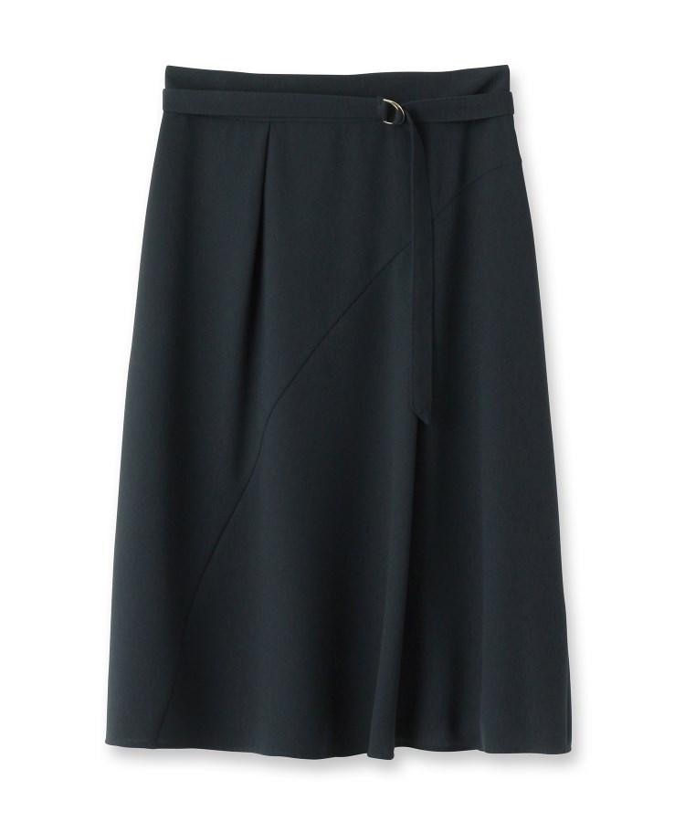 Reflect(リフレクト)【WEB限定カラーあり】ベルト付きフレアスカート