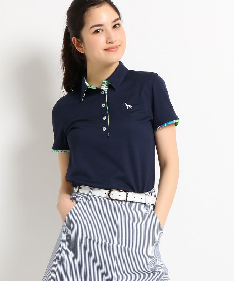 adabat(Ladies)(アダバット(レディース))【クールコア】【UVカット】ボタニカル半袖ポロシャツ