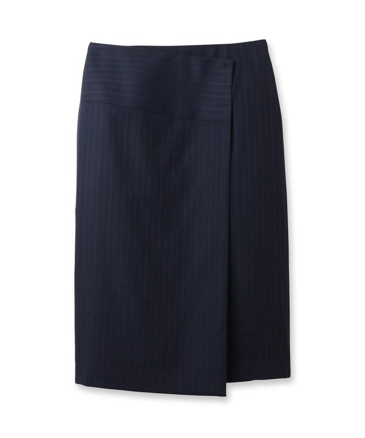 INDIVI(インディヴィ)ストライプラップタイトスカート