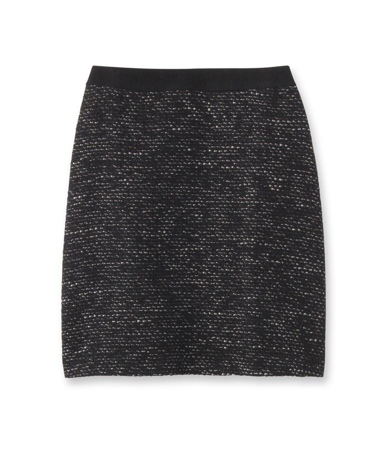 INDIVI(インディヴィ)[L]セミAラインツイードスカート