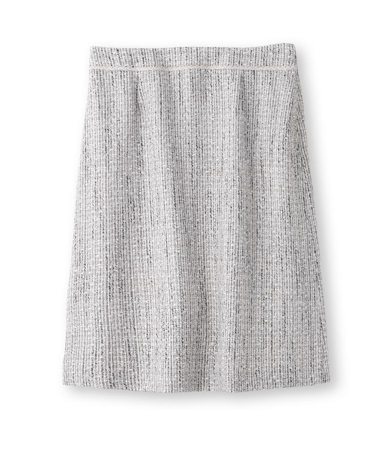 INDIVI(インディヴィ)[S]ツイードAラインスカート