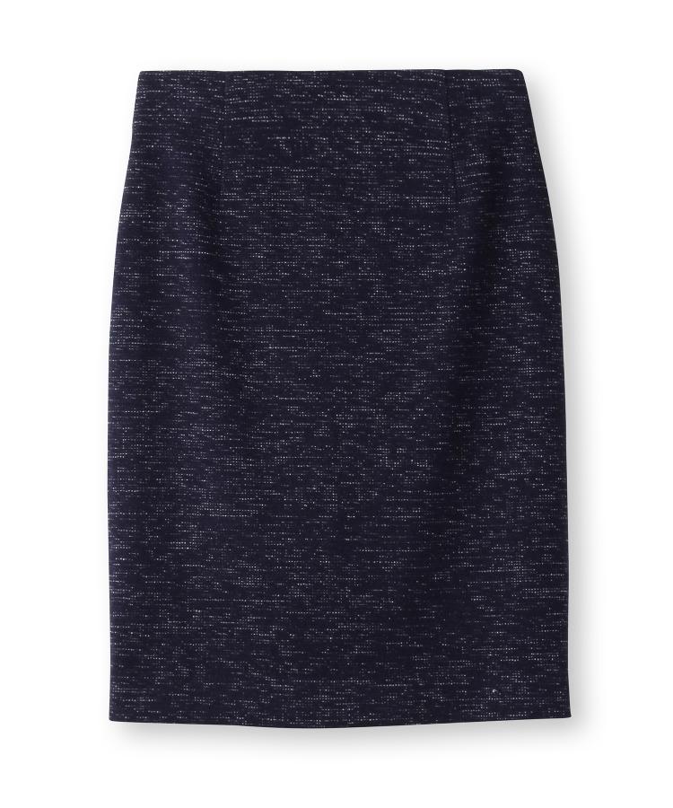 INDIVI(インディヴィ)ツイード風ストレッチスカート