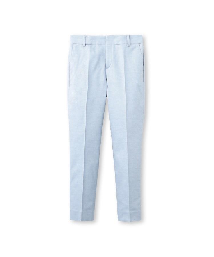 INDIVI(インディヴィ)[L]【STYLE UP PANTS/マシンウォッシュ/UV/接触冷感/吸水速乾】オックスストレッチパンツ