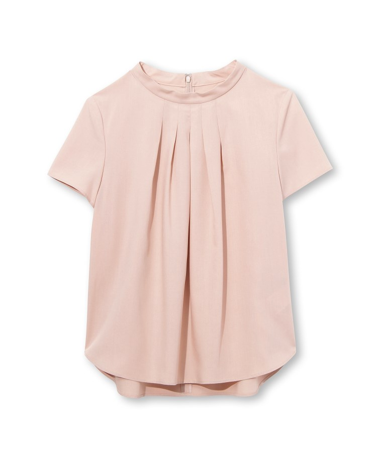 INDIVI(インディヴィ)[L]【マシンウォッシュ】グリーンフィルクロス タックシャツ
