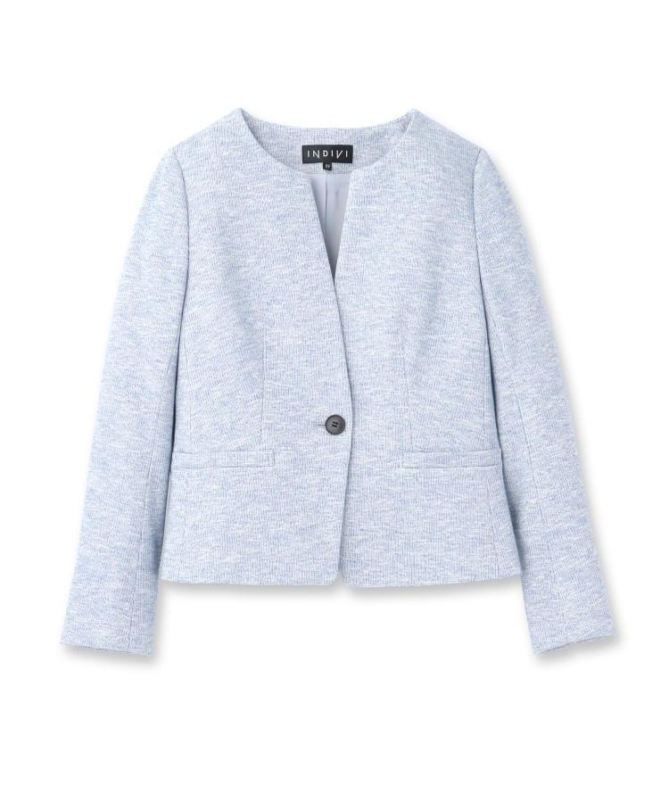 INDIVI(インディヴィ)[S]【ママスーツ/入学式 スーツ/卒業式 スーツ】ツィーディージャージジャケット