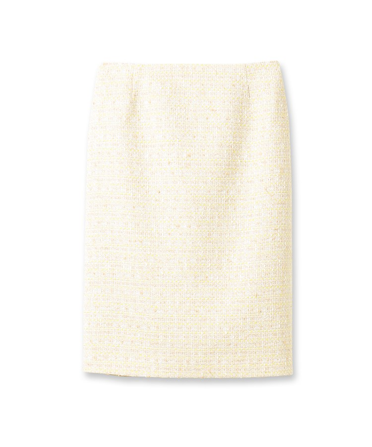 INDIVI V.A.I.(インディヴィ バイ)カラースラブツィードスカート