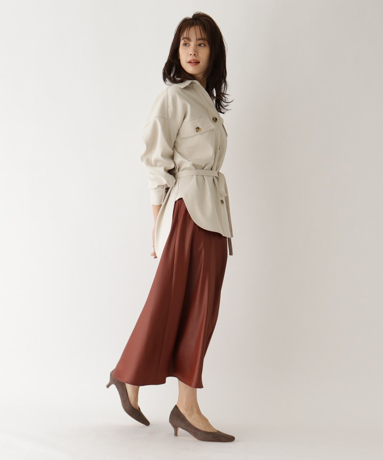 aquagirl(アクアガール)チンツサテンドレープスカート