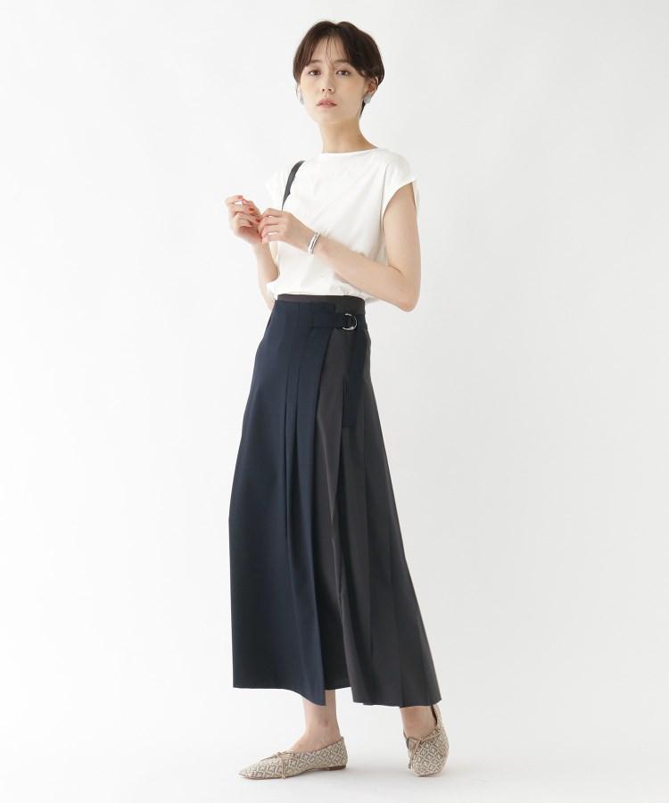aquagirl(アクアガール)タフタコンビプリーツラップスカート