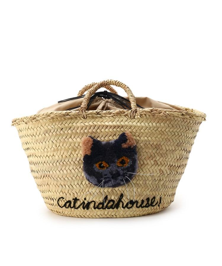 aquagirl(アクアガール)【WEB限定】CAT IN DA HOUSE! キャットフェイスかごバッグ