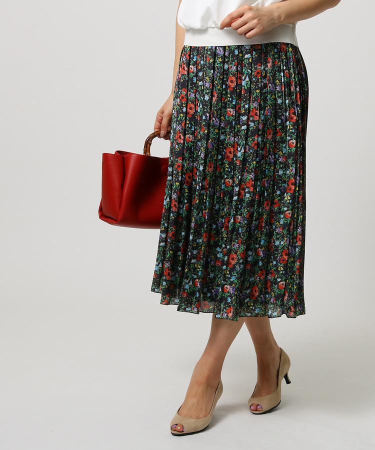 UNTITLED(アンタイトル)ガーデンフラワー プリーツスカート
