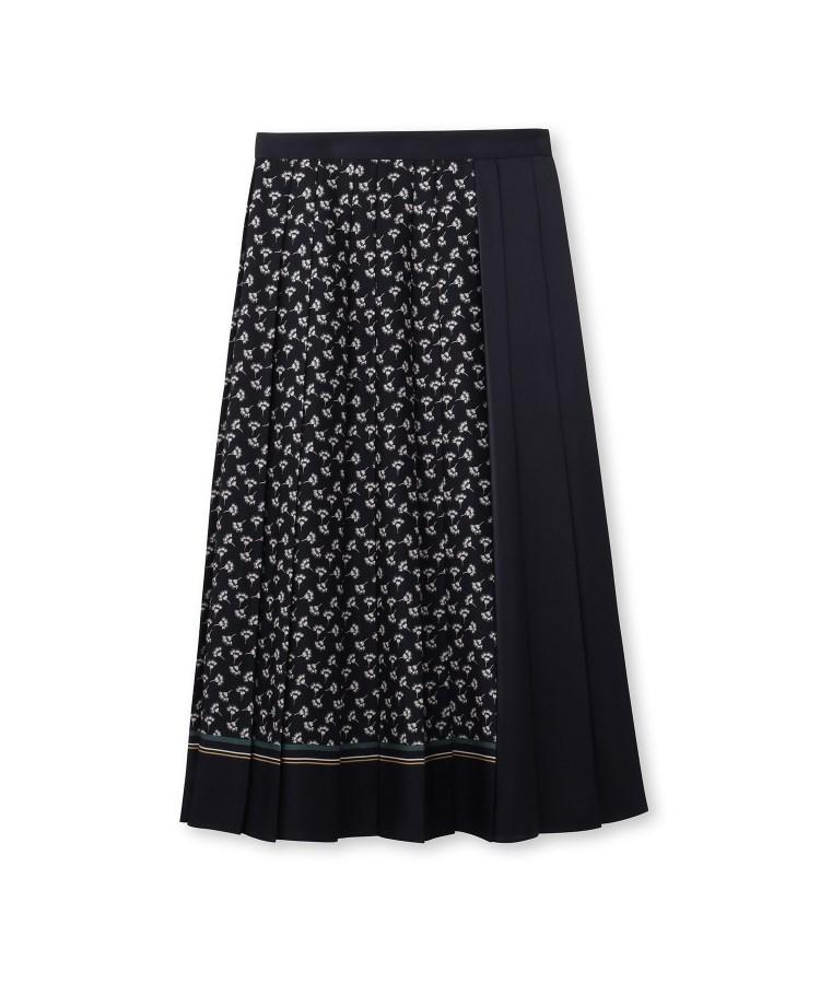 UNTITLED(アンタイトル)[L]スカーフプリントプリーツスカート