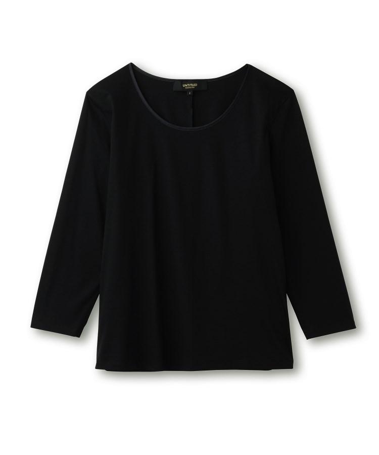 UNTITLED essential clue(アンタイトル エッセンシャルクルー)[L]【洗える】コットン(綿)クルーネックカットソー