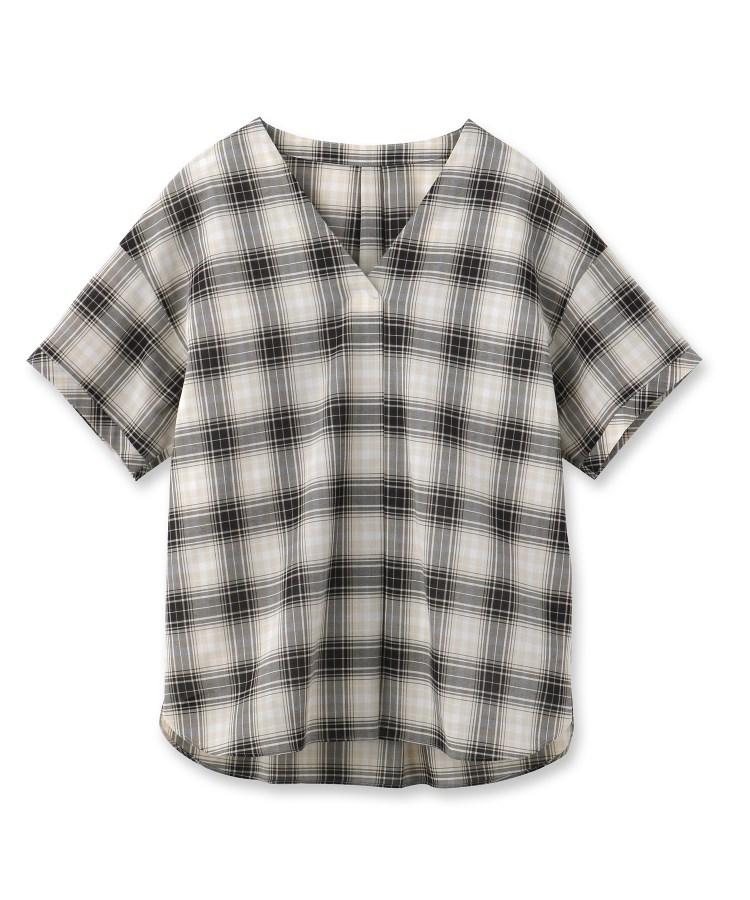 UNTITLED(アンタイトル)チェックスキッパーシャツ