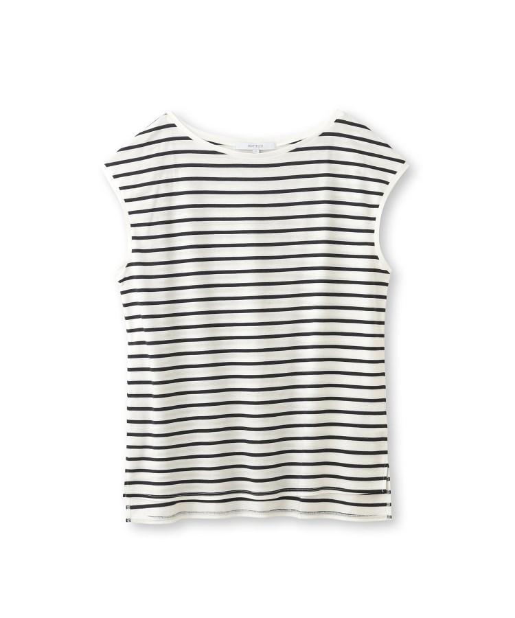 UNTITLED(アンタイトル)【洗える】アリオリティ ボーダーフレンチTシャツ