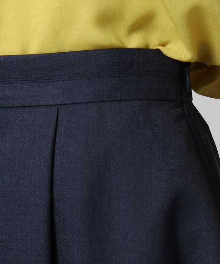 UNTITLED(アンタイトル)膝丈ツイルタックスカート