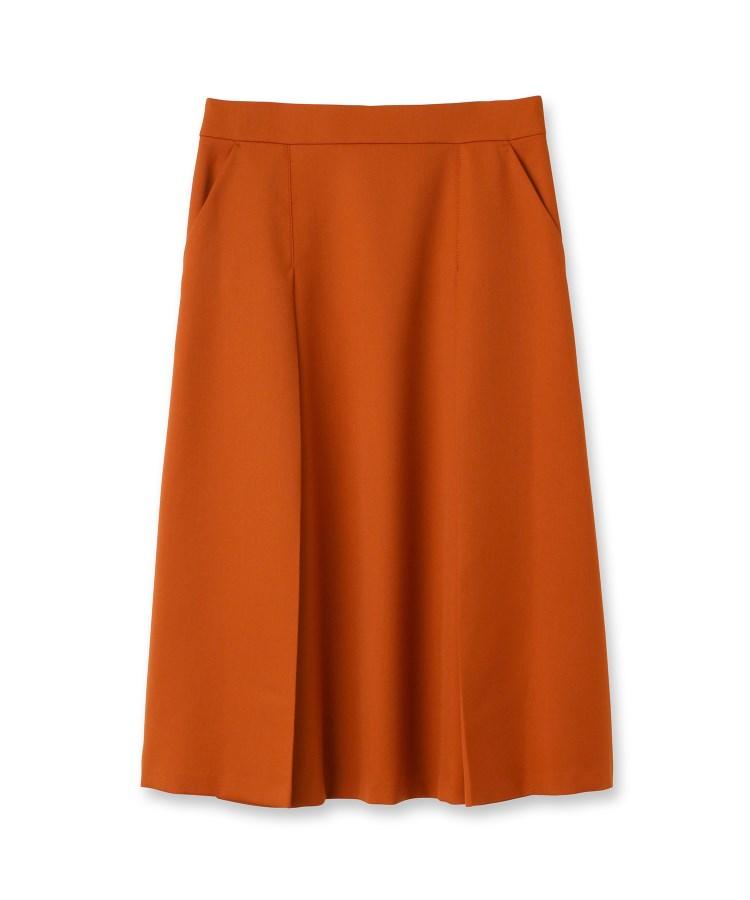 UNTITLED essential clue(アンタイトル エッセンシャルクルー)ウール混タックフレアスカート