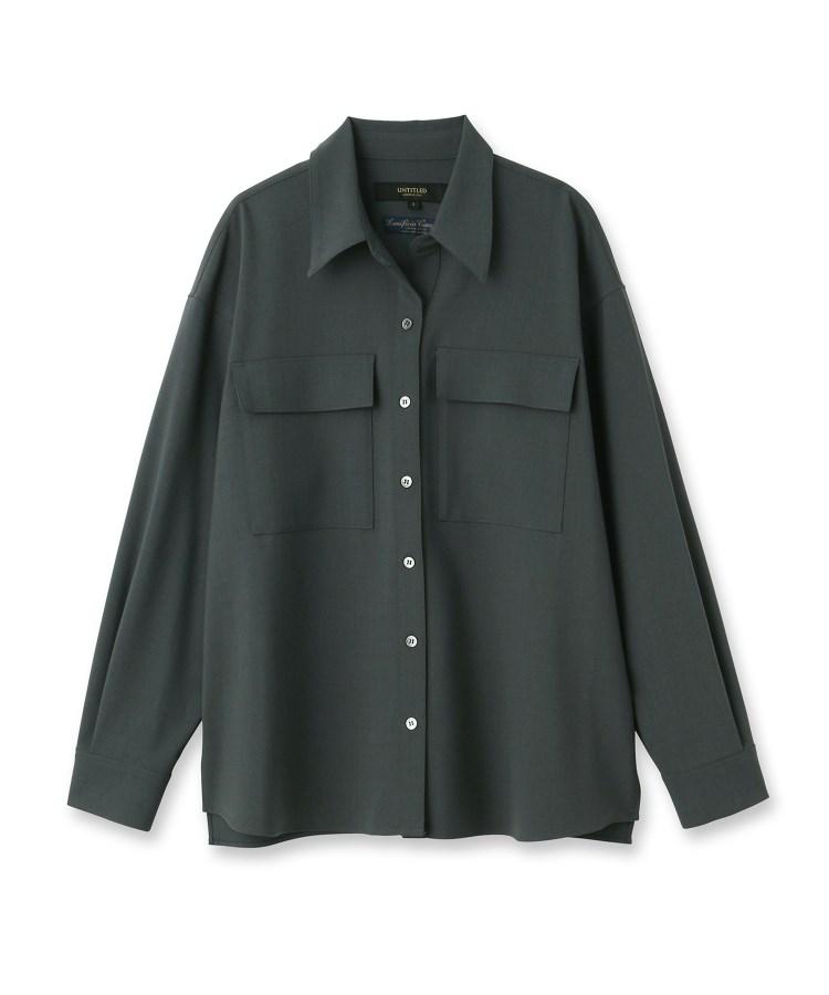 UNTITLED essential clue(アンタイトル エッセンシャルクルー)トスカーナブリーゼストレッチシャツ