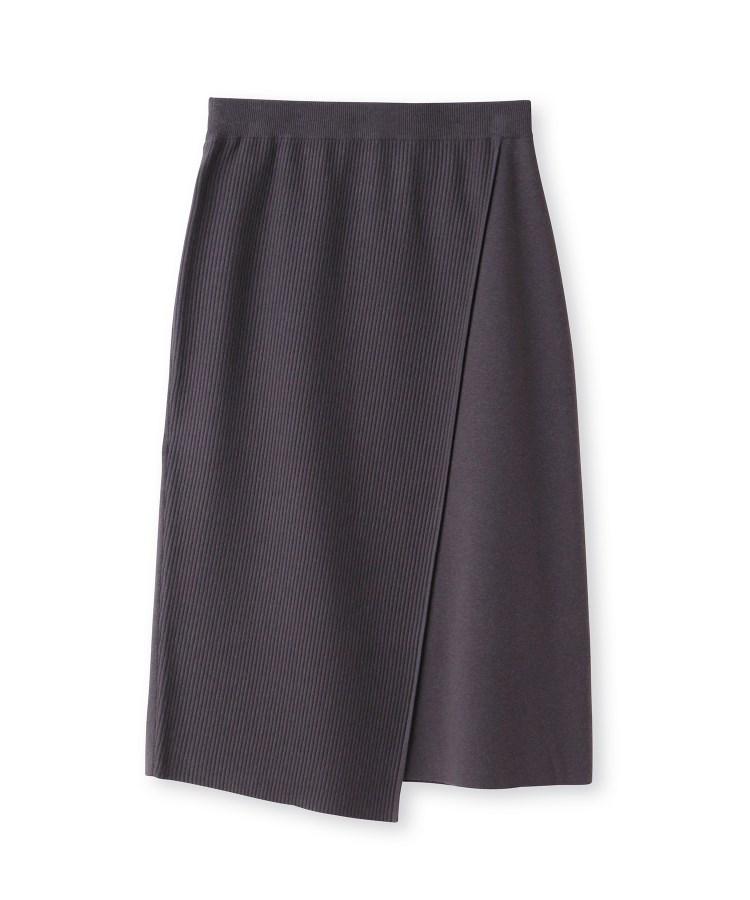 UNTITLED(アンタイトル)レーヨンウールストレッチニットスカート