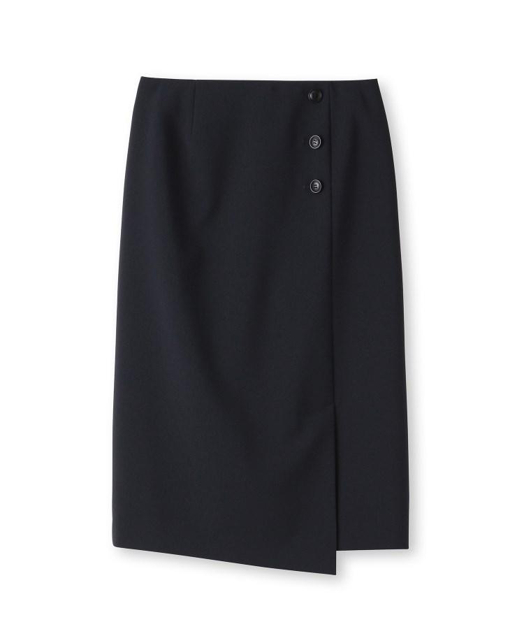 UNTITLED(アンタイトル)[L]【洗える】巻き風ストレートスカート