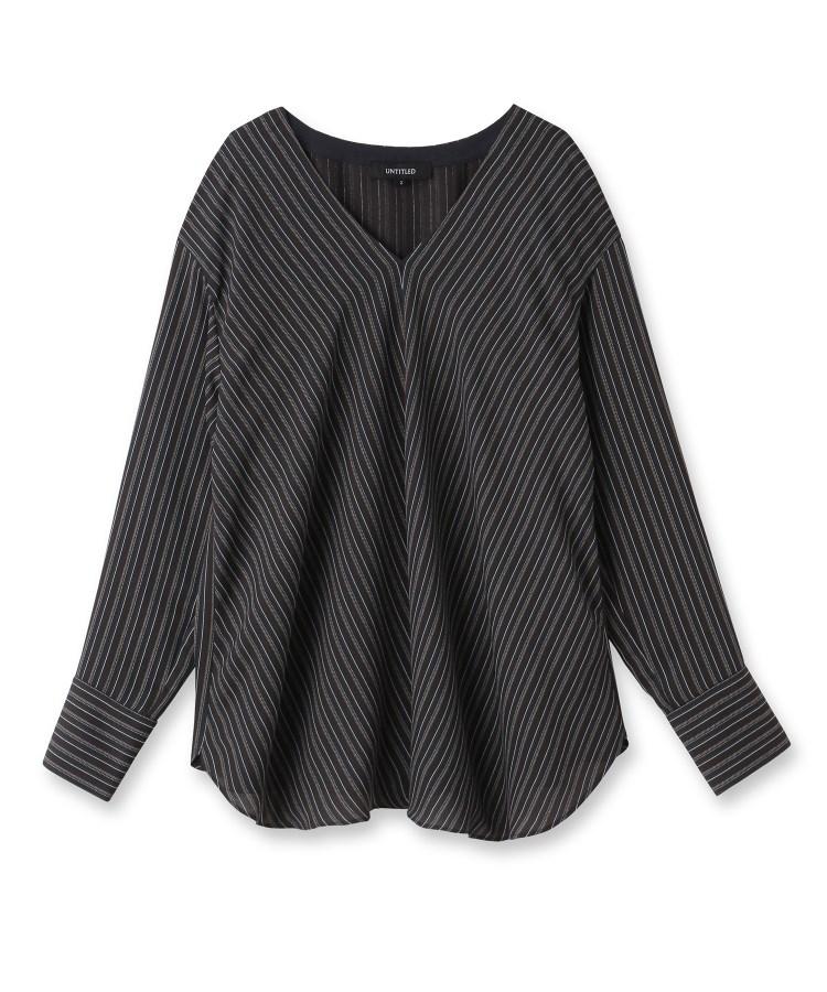 UNTITLED(アンタイトル)グラフィカルストライプブリントシャツ