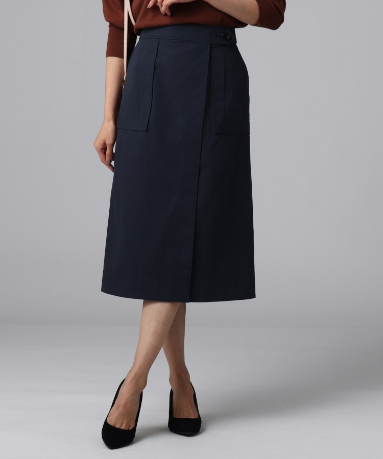 UNTITLED(アンタイトル)[L]【洗える】FABRICAコットンパッチポケットスカート