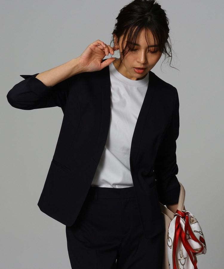 UNTITLED(アンタイトル)[L]【洗える・消臭・UVカット・接触冷感】カラーレスジャケット
